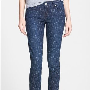 Paige Verdugo Print Ankle Skinny Jeans